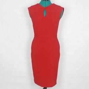 DKNY Cap Sleeve Red Midi Dress 2
